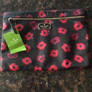 Kate Spade large Drewe bag makeup mini poppy